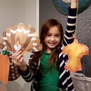 Thanksgiving crafts printable weaves - fine motor skills F