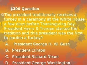 Thanksgiving Day Trivia Game: Turkey Trivia!