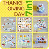 Thanksgiving day vocabulary
