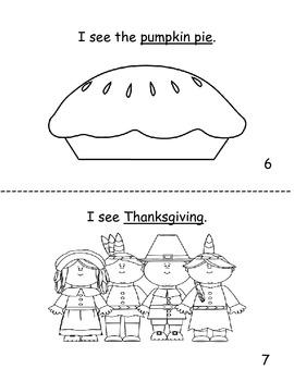 Thanksgiving decodable reader for K!