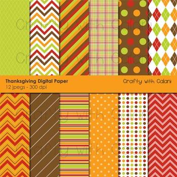 Thanksgiving digital paper, Thanksgiving digital backgroun
