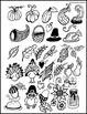 Thanksgiving doodle - Art lesson plan - Card