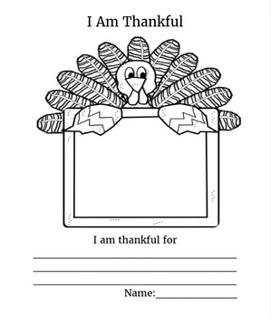 Thanksgiving draw & write