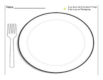 Thanksgiving drawing and writing activity