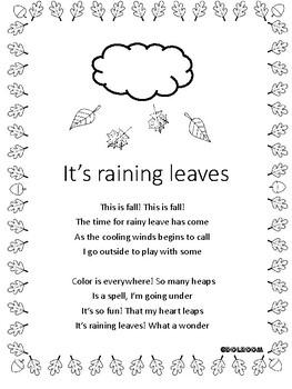 Thanksgiving/fall poem: It's raining leaves