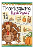 Thanksgiving flash cards for primary school, English / ESL culture & vocabulary