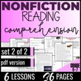 Reading Passages {Nonfiction Set 2/2} Literacy Worksheets