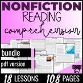 Reading Comprehension Passages {Nonfiction Bundle} Indepen