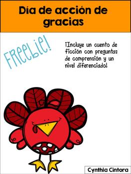 Thanksgiving freebie en ESPAÑOL