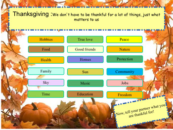Thanksgiving ESL - full lesson and activities