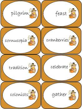 Thanksgiving fun activity: vocabulary
