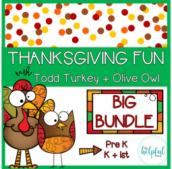 Thanksgiving fun with Todd Turkey + Olive Owl - BIG BUNDLE!