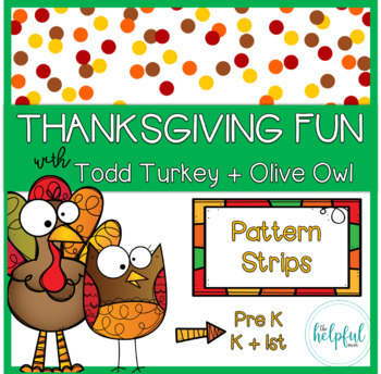 Thanksgiving fun with Todd Turkey + Olive Owl - Pattern Strips