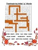 Thanksgiving /g/ word search