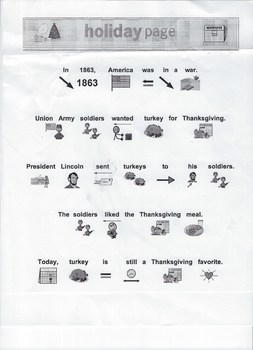 Thanksgiving holiday page