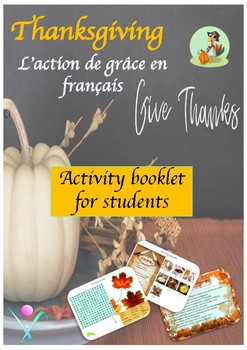 French Thanksgiving Activities - printable