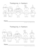 Thanksgiving in Numbers Math Mini Book