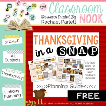 FREEBIE: Thanksgiving in a SNAP! {Planning Guide}