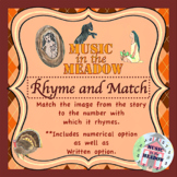 Thanksgiving in the Meadow Rhyme and Match