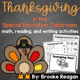 Thanksgiving in the Special Education Classroom: ELA and Math Activities