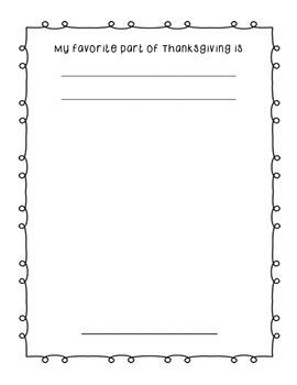 Thanksgiving is Coming, Kindergarten Class Book