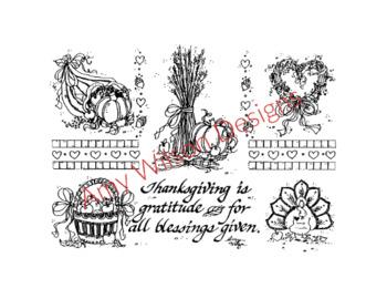 Thanksgiving is Gratitude Pen n Ink