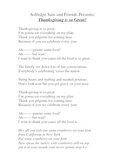 Thanksgiving is so Great (Lyrics/Word Document)