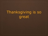 Thanksgiving is so Great - Song/mp3