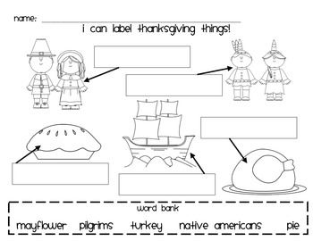 Thanksgiving labeling