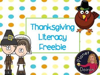 Thanksgiving literacy freebie secret message decoding