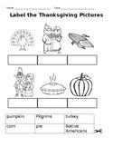 Thanksgiving matching worksheets
