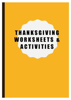 Thanksgiving activities - activity pack