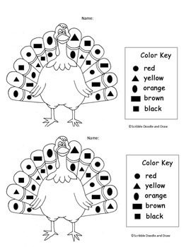 Thanksgiving math centers for kindergarten -It's turkey time!
