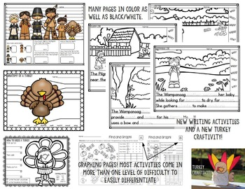 Thanksgiving Activities for 1st and 2nd Grade