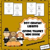 Thanksgiving mini book/ Doy gracias librito