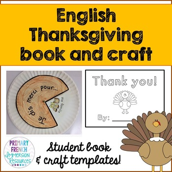 Thanksgiving Mini Book And Craft Template English Tpt