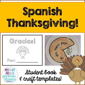 Thanksgiving mini book and craft template - Spanish