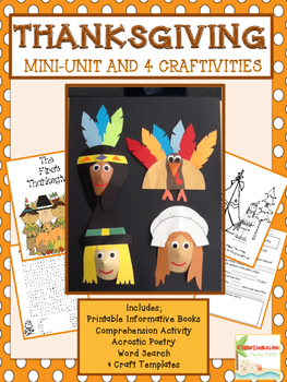 Thanksgiving Unit and Craftivity Common Core Aligned