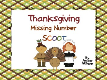 Thanksgiving missing number Task Card Scoot