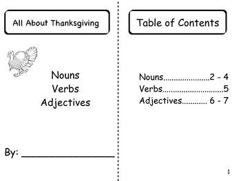 Thanksgiving nonfiction book and grammar sort