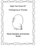 Thanksgiving on Thursday Magic Tree House #27 Book Study G