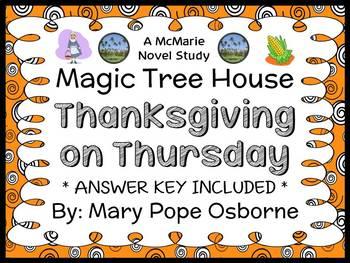 Thanksgiving on Thursday: Magic Tree House #27 Novel Study / Comprehension