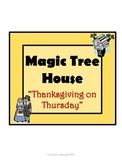 Thanksgiving on Thursday Magic Tree House #27 Comprehensio