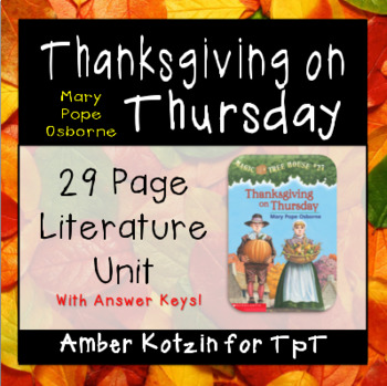Thanksgiving on Thursday (Magic Tree House) Literature Guide (Common Core)