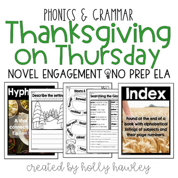 Thanksgiving on Thursday NO PREP ELA