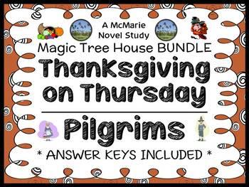 Thanksgiving on Thursday | Pilgrims Fact Tracker : Magic Tree House BUNDLE