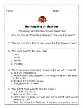 Thanksgiving on Thursday Quiz
