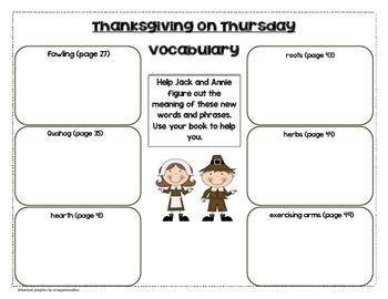 Thanksgiving on Thursday Vocabulary