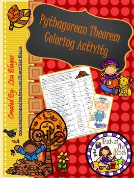 Autumn Pythagorean Theorem Coloring Activity