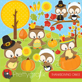 Thanksgiving owls clipart commercial use, vector graphics,